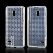 Argyle Clear Crystal Silicone Case for LG Optimus L9