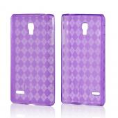 Argyle Purple Crystal Silicone Case for LG Optimus L9
