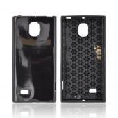 LG Spectrum 2 Crystal Silicone Case - Black w/ Hex Star Interior