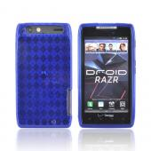 Motorola Droid RAZR Crystal Silicone Case - Argyle Blue
