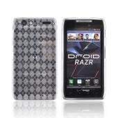 Motorola Droid RAZR Crystal Silicone Case - Argyle Clear