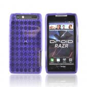 Motorola Droid RAZR Crystal Silicone Case - Argyle Purple