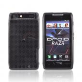 Motorola Droid RAZR Crystal Silicone Case - Argyle Smoke