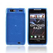 Motorola Droid RAZR Crystal Silicone Case - Baby Blue