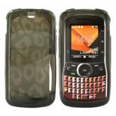 Motorola Clutch I465 Crystal Silicone Case - Leopard Print on Transparent Smoke