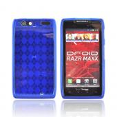 Motorola Droid RAZR MAXX Crystal Silicone Case - Argyle Blue