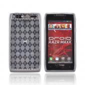 Motorola Droid RAZR Maxx Crystal Silicone Case - Argyle Clear