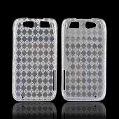 Motorola Atrix HD Crystal Silicone Case - Argyle Clear