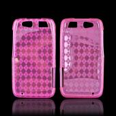 Motorola Atrix HD Crystal Silicone Case - Argyle Pink