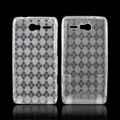 Motorola Droid RAZR M Crystal Silicone Case - Argyle Clear
