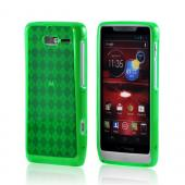 Motorola Droid RAZR M Crystal Silicone Case - Argyle Green