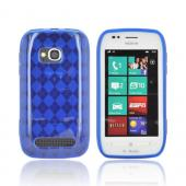 Nokia Lumia 710 Crystal Silicone Case - Argyle Blue
