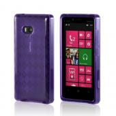 Argyle Purple Crystal Silicone Case for Nokia Lumia 810