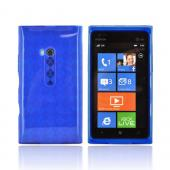 Nokia Lumia 900 Crystal Silicone Case - Argyle Blue