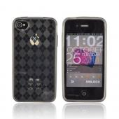 AT&amp;T/ Verizon iPhone 4, iPhone 4S Crystal Silicone Case - Argyle Smoke