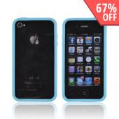 AT&amp;T/Verizon Apple iPhone 4, iPhone 4S Crystal Silicone Bumper - Sky Blue