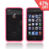 AT&amp;T/Verizon Apple iPhone 4, iPhone 4S Crystal Silicone Bumper - Hot Pink