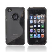 Luxmo Apple Verizon/ AT&amp;T iPhone 4, iPhone 4S Crystal Silicone Case - Smoke/Clear Design