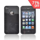 AT&amp;T/ Verizon Apple iPhone 4, iPhone 4S Crystal Silicone Case - Black w/ Metal Flake