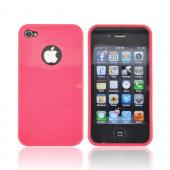 AT&amp;T/ Verizon Apple iPhone 4, iPhone 4S Crystal Silicone Case - Hot Pink w/ Metal Flake