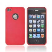 AT&amp;T/ Verizon Apple iPhone 4, iPhone 4S Crystal Silicone Case - Red w/ Metal Flake