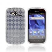 Pantech Burst 9070 Crystal Silicone Case - Argyle Clear