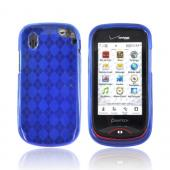Pantech Hotshot Crystal Silicone Case - Argyle Blue