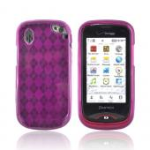 Pantech Hotshot Crystal Silicone Case - Argyle Magenta