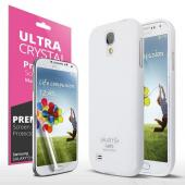 White Exclusive CellTo Anti-Slip TPU Crystal Silicone Case + Free Screen Protector for Samsung Galaxy S4