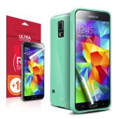 REDShield® Samsung Galaxy S5 Anti-Slip TPU Crystal Silicone Case [Mint] + Free Screen Protector