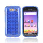 Samsung Galaxy S Blaze 4G Crystal Silicone Case - Argyle Blue