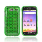 Samsung Galaxy S Blaze 4G Crystal Silicone Case - Argyle Green