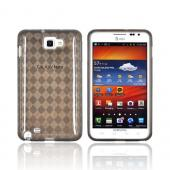 Samsung Galaxy Note Crystal Silicone Case - Argyle Smoke