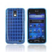 Samsung Galaxy S2 Skyrocket Crystal Silicone Case - Blue (Argyle Interior)