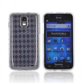 Samsung Galaxy S2 Skyrocket Crystal Silicone Case - Clear (Argyle Interior)