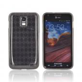 Samsung Galaxy S2 Skyrocket Crystal Silicone Case - Transparent Smoke (Argyle Interior)