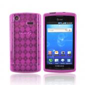 Samsung Captivate i897 Crystal Silicone Case - Argyle Hot Pink