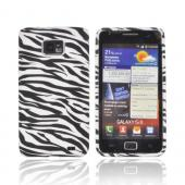 AT&amp;T Samsung Galaxy S2 Crystal Silicone Case - Black/ White Zebra (Argyle Interior)