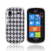 Samsung Focus i917 Crystal Silicone Case - Transparent Clear Argyle