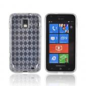 Samsung Focus S i937 Crystal Silicone Case - Argyle Clear
