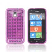 Samsung Focus S i937 Crystal Silicone Case - Argyle Hot Pink