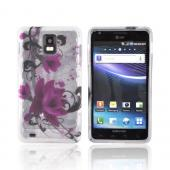 Samsung Infuse 4G i997 Crystal Silicone Case - Pink Flowers on Frost White