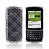 Samsung Replenish M580 Crystal Silicone Case - Argyle Texture on Clear