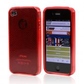 Apple Verizon/ AT&amp;T iPhone 4, iPhone 4S Crystal Silicone Case - Argyle Red