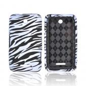 ZTE Score X500 Crystal Silicone Case - White/ Black Zebra