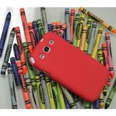 Red Super Premium Anti-Slip Crayon Series Crystal Silicone Case for Samsung Galaxy S3