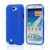 Blue Super Premium Anti-Slip Crayon Series Crystal Silicone Case for Galaxy Note 2