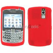 BlackBerry Curve 8330, 8320, 8310, 8300 Silicone Skin Rubber Case - Dark Red