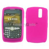 Blackberry Curve 8350i Silicone Case, Rubber Skin - Hot Pink