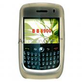 Blackberry Curve 8900 Sillicone Case, Rubber Skin - Smoke